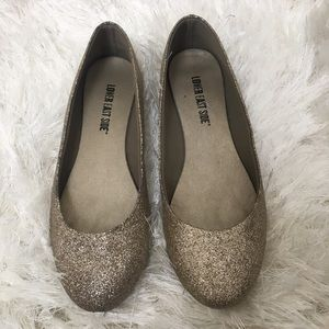 Women's Lower East Side Gold Sparkle Flats Size 6